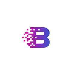 B letter pixel logo icon design vector