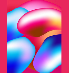 background style abstract liquid splash bubble vector image