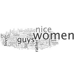 Bad boys vs nice guys which do you prefer vector