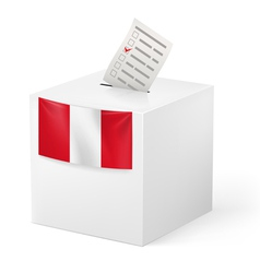 Ballot box with voting paper Peru vector image