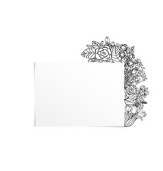 beautiful grey floral frame for your products vector image
