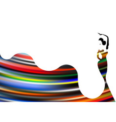 Beautiful young woman hispanic flamenco dancer dan vector