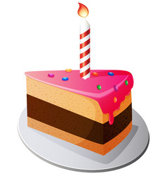 birthday cake cartoon vector image