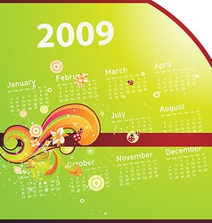Bright 2009 summer calendar vector