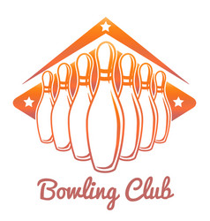 Bright bowling club banner vector