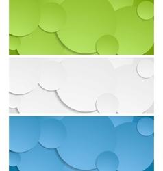Bright circles banners vector