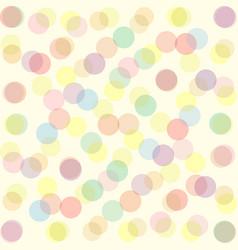 bright colored light transparent balls background vector image