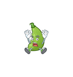 Cartoon character broad beans style with vector