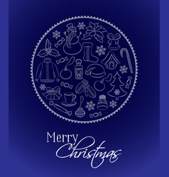 christmas card or vertical banner traditional vector image