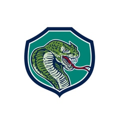 Cobra Viper Snake Shield Retro vector image