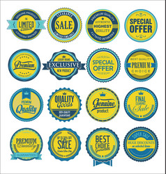 collection vintage labels for sale and vector image