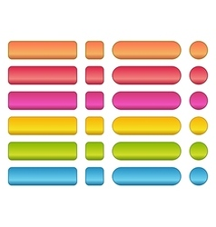 colorful set blank buttons vector image