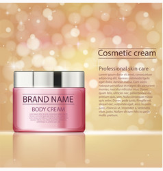Cosmetic products facial treatment cream vector