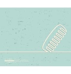 Creative hair brush Art vector image