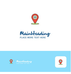 creative hospital location logo design flat color vector image