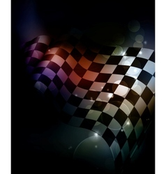 Dark Checkered Background vector image