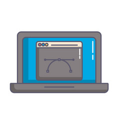 designer laptop computer isolated icon vector image