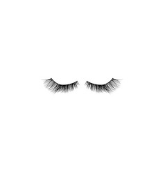 eye lashes icon lashes black vector image