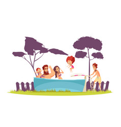 family active holidays pool vector image