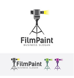 Film painting logo vector