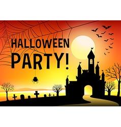 Halloween with graveyard vector