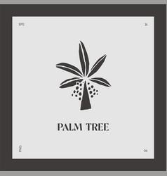Hand drawn palm tree logotype coco vector