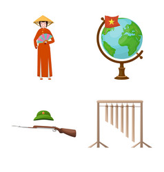 Isolated object travel and country icon vector