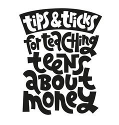 kid finance lettering vector image