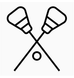 Lacrosse icon vector