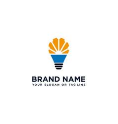 Logo design and light lamp vector