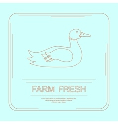 Logotype of farm fresh vector