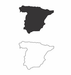 maps of spain vector image