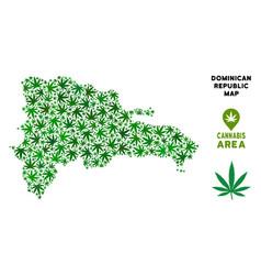 Marijuana composition dominican republic vector