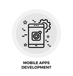 Mobile Apps Development Line Icon vector image
