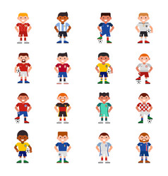 national eurcup soccer football team players vector image