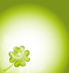 Nature background with four-leaf clover for St vector