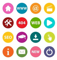 New web icons vector image