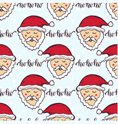new year pattern with funny santa christmas vector image