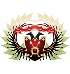 old heraldic vector image