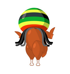 Rasta turkey reggae takes and roasted fowl food vector