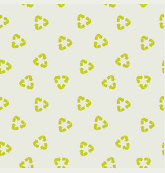 recycle sign pattern vector image