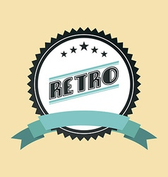 retro ribbon vector image
