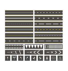 road marks street lines on asphalt bus station vector image