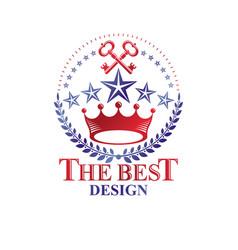 royal crown emblem heraldic coat of arms vector image