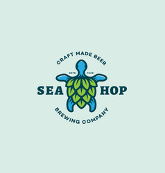 sea hop logo vector image