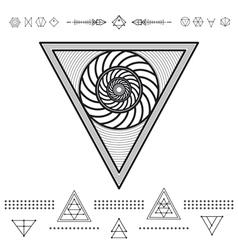 Set of geometric hipster shapes 9znl72211 vector
