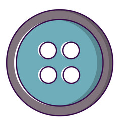 Sewing button icon cartoon style vector