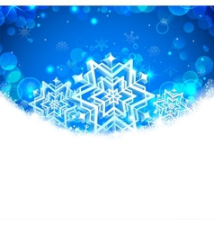 Snowflakes Christmas Banner vector
