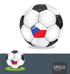 Soccer ball czech euro flag vector