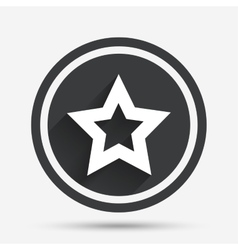 Star sign icon Favorite button Navigation vector image